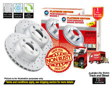 For TOYOTA Kluger GSU50 GSU55 309mm REAR Slotted Drilled Disc Rotors & 4X4 Pads