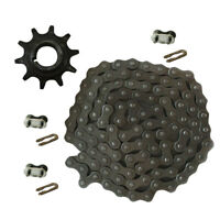 415 Chain & Drive Sprocket & Chain Master Link Fit 49cc 66cc 80cc Motorized Bike