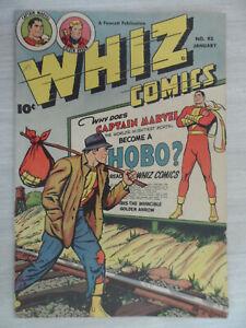 WHIZ COMICS #93 CAPTAIN MARVEL. A Fawcett Publication. January 1948 SHAZAM!!