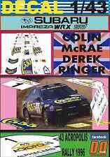 DECAL 1/43 SUBARU IMPREZA 555 C.MCRAE ACROPOLIS R. 1996 WINNER (01)