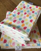 BABY BURP CLOTH EXTRA LARGE Elephant design with a white towelling back
