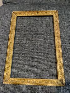 Vintage Baroque-style Gesso Gold Picture Frame