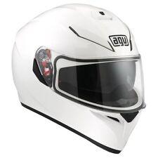 Gloss Plain AGV Helmets with Integrated Sun Visor