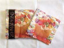 Paquete de 20 X Caramelo Corazón Amor Pastel Servilletas desechable Fiestas