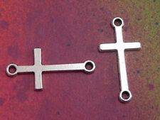 25 Cross Charms Religious Christian Crucifixion Jesus Connector Pendants Charm