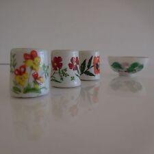 4 sujets en porcelaine de Chine de style art nouveau