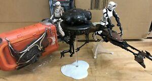 Star Wars The Black Series 6 Inch Deluxe Vehicles Rey's Speeder, Speeder Bike