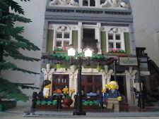Lampadaire noir parisien lamppost lego LED 12v modular 10243 10232 10224 10218