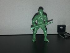 Lido Toy Soldier.  WW2 GI Green Plastic with gun at waist. 1960s
