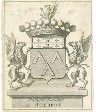 EX-LIBRIS de Philippe Laurent de JOUBERT. Languedoc.