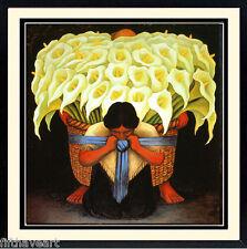 Diego Rivera Art Poster Custom Framed El Vendedor de Alcatreces 28x28 Inches