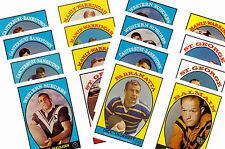 Nrl Rugby League (1968) - Gum Card/ Postcard Set # 1