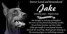 Personalized Doberman Pinscher Dog Pet Memorial 12x6 Custom Made Granite Marker