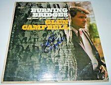 GLEN CAMPBELL~Burning Bridges~Signed Album~Excellent~Photo Proof