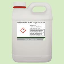 Benzyl Alcohol 99.9% USP,Ph Eur,BP,ACS 2.5 Litre (2.5L)