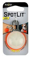 Nite Ize Spotlit LED Carabiner Light Red Safety Flasher Eco Packaging SLG-06-10