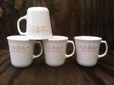 Corelle Dishes Dutch Lattice White Flared Suprema Cups Mugs Set Of 4