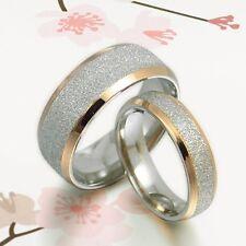 UK BOX SET Groom&Bride Wedding Engagement Anniversary Bands Titanium Couple Ring