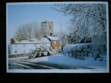 POSTCARD NORTHAMPTONSHIRE DAVENTRY - NORTON - CHURCH IN BACKGROUND - SNOW ON GRO