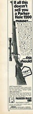 1971 Print Ad of Jana Parker Hale Model 1200 Mauser Rifle