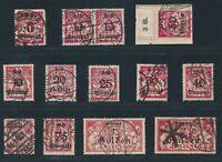 DANZIG 1923, Mi. 181-90 gestempelt, 13 Werte gepr. INFLA inkl. Abarten!! Mi. 270