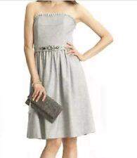 BANANA REPUBLIC JEWELED STRAPLESS DRESS Sz TALL 4, NWT