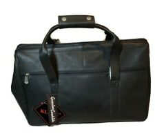 Kluge Cheyenne black genuine cowhide leather wide mouth duffel bag Kingsport new