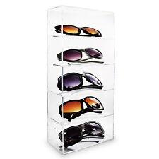 Acrylic Five Shelves Eyewear Case Display Wall Mounted/Free Standing
