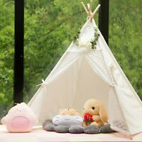 Samincom Classic Kids Play Lace Tent Childrens Play House Tipi Kids - Lace Decor