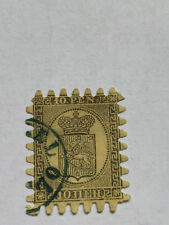 Rare stamps Finland- Rare Example Roulete Blue II CV £290