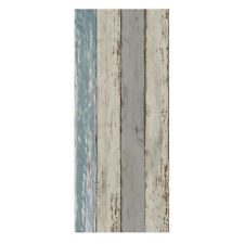 Nordic Style Wall paper - Wood Stripe Effect Feature - Self Adhesive Mural C
