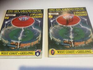 West Coast Eagles Hand Signed Footy Records. Worsfold x 2, Malthouse, Matera