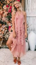 NWT Spell & the Gypsy Collective Designs Luna Mesh Gown Blush Size XS