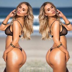 Hot Women Sexy Lingerie Mesh See-through Bikini Suit Women's Beach Gift