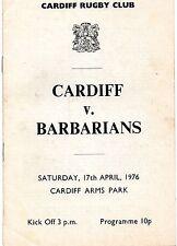 Apr 76 CARDIFF v BARBARIANS