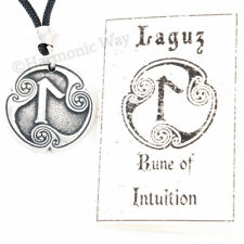 LAGUZ Intuition Self Transformation Growth RUNE Viking Norse Amulet Pendant