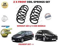 FOR PEUGEOT 207 WITHOUT AIR CONDITION MODELS 1.4 2006-> 2 X FRONT COIL SPRINGS