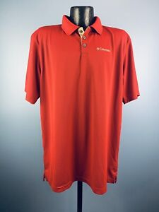 Men's Columbia Omni-Wick Polyester Red Short-Sleeve Outdoor Polo Large Tall NWT