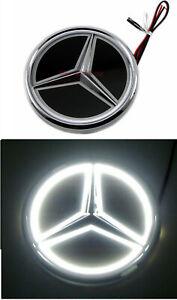 For Mercedes-Benz S300L E300 5D LED Tail Logo White Light Badge Emblem C63 AMG