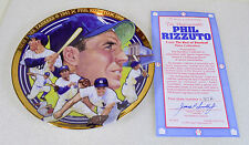 NY Yankees PHIL RIZZUTO Hamilton Limited Edition Collector Plate with COA (1992)