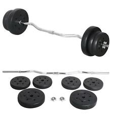25Kg Olympic Barbell Dumbbell Curl Bar Weight Set Gym Lifting Exercise new