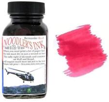 Noodlers Fountain Pen Ink Bottle - Bernanke Red Fast Dry
