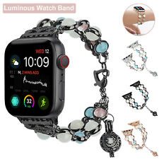 For Apple Watch Band 38/40/42/44mm Series 4 3 2 1 Luminous Night Pearl Bracelet