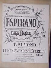 VINTAGE SHEET MUSIC - ESPERANO BARN DANCE - NEW DANCE FOR THE BALLROOM