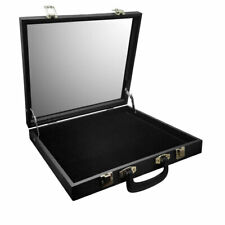 GLASS TOP DISPLAY CASE JEWELRY CASE TRAVEL CASE SALESMEN DISPLAY CASE FREE Liner
