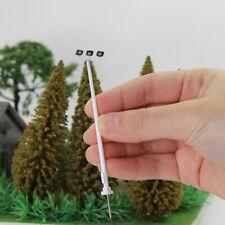 5pcs N Scale Plaza Lamppost Three-leds 8cm 1:150 Playground Street Lights Model