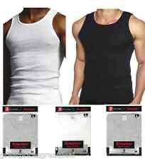 3 pk Mens 100% Cotton Ribbed A-Shirts Undershirts Wife Beater NEW Tank Tops