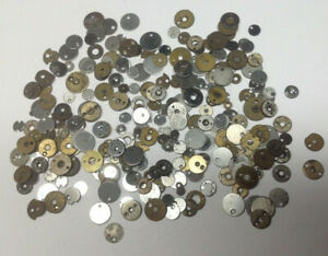 Selection Pocket Watch Unfinished Jewel Caps - Spare Parts for Repair Work