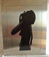 Sérigraphie sur acier signée Lohle Rudy, représentant une femme nue, numérotée
