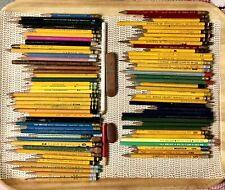 Lot/83 VTG Wood Wooden Pencil Dixon Ticonderoga AW Faber Eberhard Empire MORE